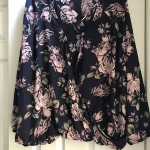 Charlotte Russe: blue with pink roses NWT